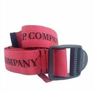 C.P. Company Italy Red Black Adjustable Strap Belt
